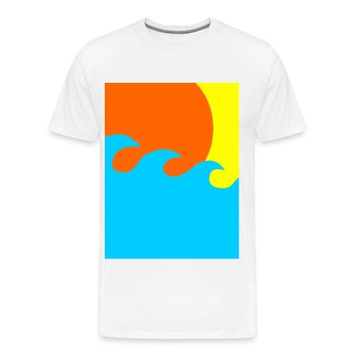 sun and sea - Mannen Premium T-shirt