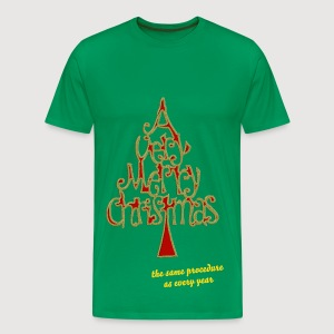 A VERY MERRY CHRISTMAS / Tannenbaum + Dein Text (the same procedure as every year) | unisex shirt - Männer Premium T-Shirt