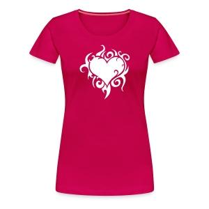 Girl-Shirt Flammendes Herz - Frauen Premium T-Shirt