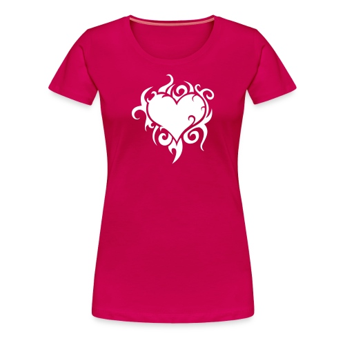 Girl-Shirt Flammendes Herz - Frauen Premium T-Shirt