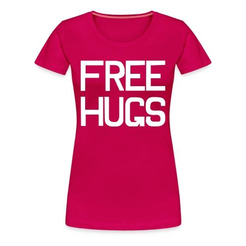 FREE HUGS Roze/Wit - Vrouwen Premium T-shirt