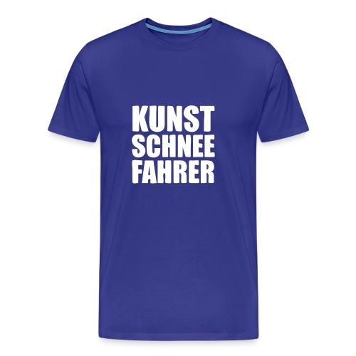 Kunstschneefahrer - Männer Premium T-Shirt