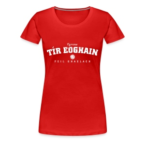 Vintage Tyrone Football T-Shirt - Women's Premium T-Shirt