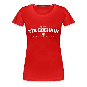 Vintage Tyrone Football T-Shirt - Women's Premium T-Shirt