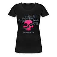 T-Shirts ~ Women's Premium T-Shirt ~ Skull.sys pink/metallic grey