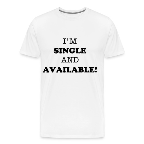 Single - white - Men's Premium T-Shirt