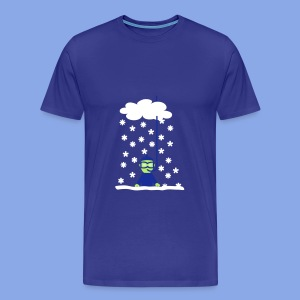 Diver in snow - Männer Premium T-Shirt