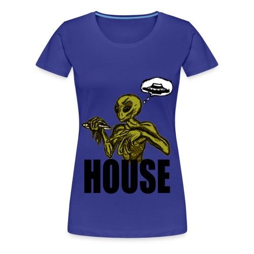 T shirt femme alien house - T-shirt Premium Femme
