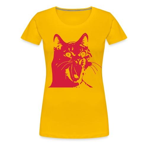 Katze Überraschung - Frauen Premium T-Shirt
