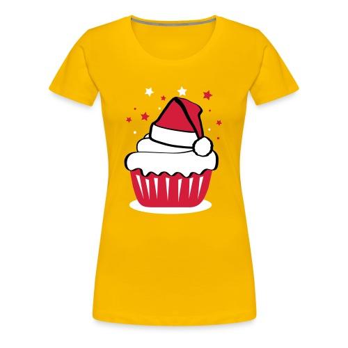 Weihnachtscupcake - Frauen Premium T-Shirt