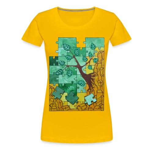 Erde & Holz Woman - Frauen Premium T-Shirt