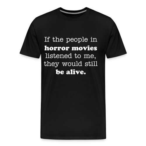 horror - black - Men's Premium T-Shirt