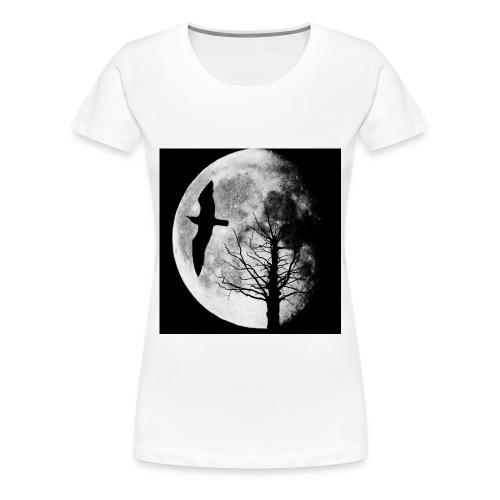 Ombre chinoise, la lune, l'arbre et l'oiseau - T-shirt Premium Femme