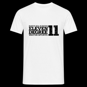 North Sea Surfing eleven degree black (oldstyle) - Men's T-Shirt