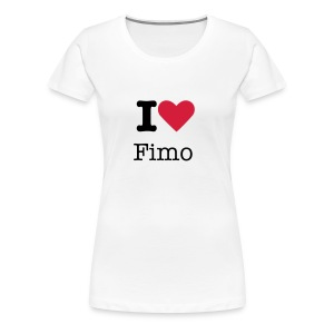 'I love Fimo' Girls Tee - Women's Premium T-Shirt