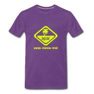 T-Shirts ~ Männer Premium T-Shirt ~ Açaí Comfort T (einfarbiges Logo)