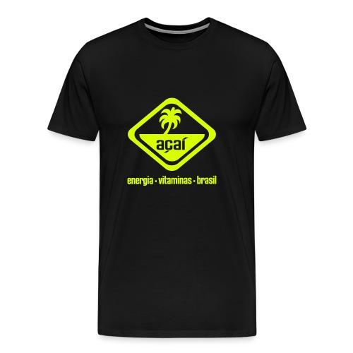 Açaí Comfort T (einfarbiges Logo) - Männer Premium T-Shirt