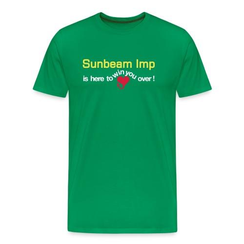 Basic Sunbeam Ad - on green - Premium T-skjorte for menn