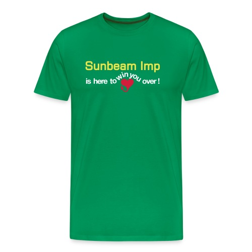 Basic Sunbeam Ad - on green - Premium T-skjorte for menn
