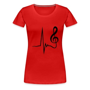 Hartslag muzieknoot - Vrouwen Premium T-shirt