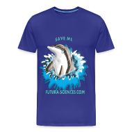 Tee shirts ~ Tee shirt Premium Homme ~ Save dauphin homme bleu marine