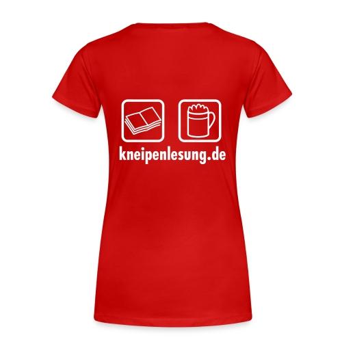 Kneipenlesung Logo Rücken Girl - Frauen Premium T-Shirt