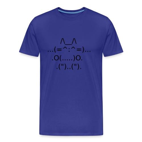 ASCII Cat - T-shirt Premium Homme