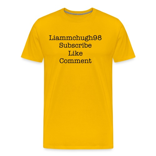 Subscribe, Like,  Comment  T-Shirt - Men's Premium T-Shirt