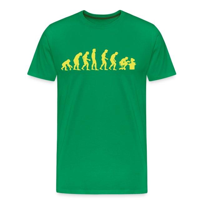 Evolutie grote maten heren t-shirt met opdruk