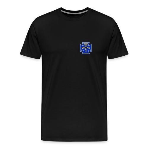 Shirt schwarz Brustlogo farbig, Übergröße - Männer Premium T-Shirt