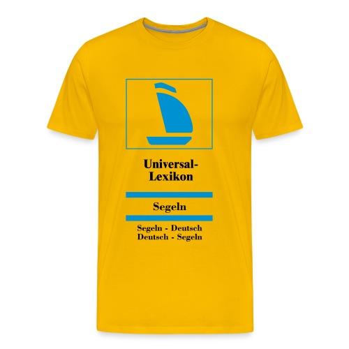 Universal-Lexikon Segeln-Deutsch - Männer Premium T-Shirt