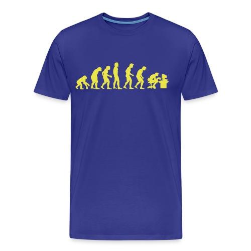 Evolutie heren t-shirt met opdruk - Mannen Premium T-shirt