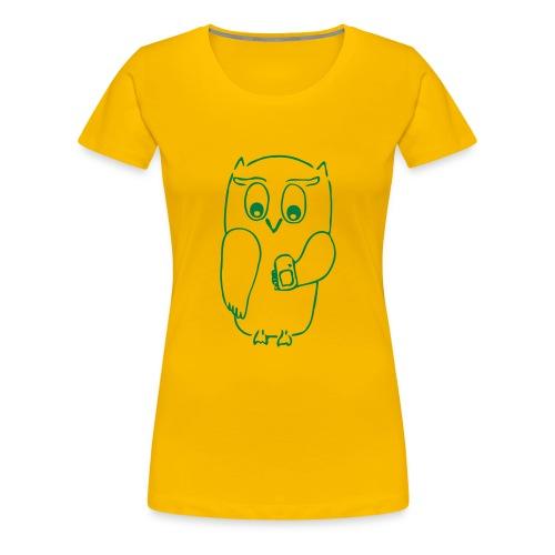 Eulen-Shirt - Frauen Premium T-Shirt