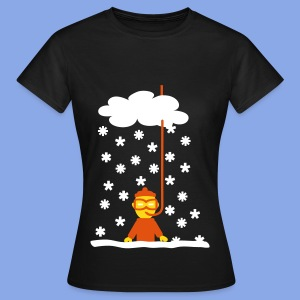 Funny diver in snow - Frauen T-Shirt