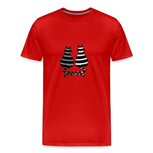 katzenpaar man t-shirt - Männer Premium T-Shirt