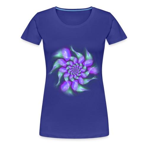 Wirbel türkis - Frauen Premium T-Shirt