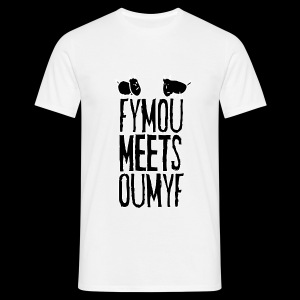 Fymou meets Oumyf (black full print) - Miesten t-paita