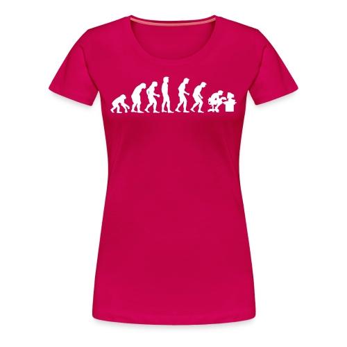 Evolutie grote maten dames t-shirt met opdruk - Vrouwen Premium T-shirt