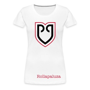Rollapaluza official tee shirt Womens white - Frauen Premium T-Shirt