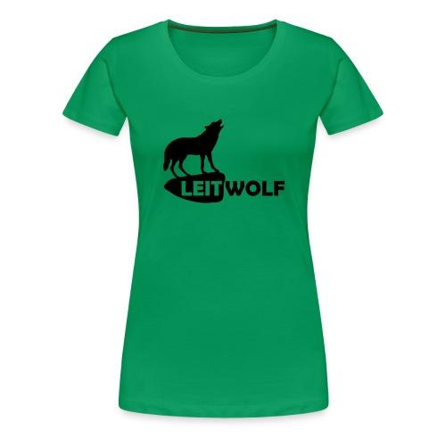tier shirt wolf leitwolf anführer rudel canis lupus alphatier - Frauen Premium T-Shirt
