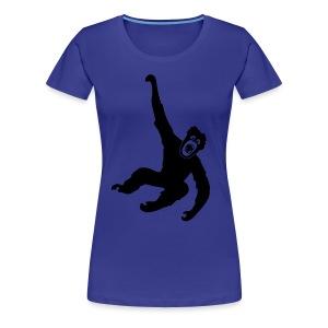 Tier Shirt Affe Gorilla Schimpanse Orang Utan Monkey Ape King Kong Godzilla - Frauen Premium T-Shirt