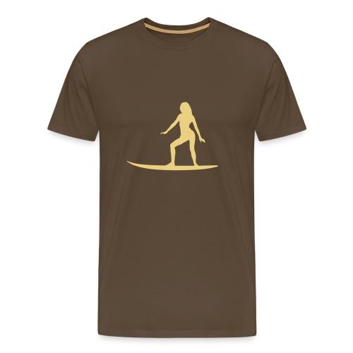 Sufer Babe on Board (Surf T-Shirt) - Männer Premium T-Shirt