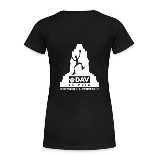 Frauen Girlieshirt, weißes Logo - Frauen Premium T-Shirt