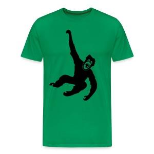 Tier Shirt Affe Gorilla Schimpanse Orang Utan Monkey Ape King Kong Godzilla - Männer Premium T-Shirt