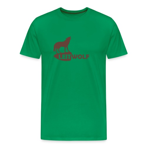 tier shirt wolf leitwolf anführer rudel canis lupus alphatier - Männer Premium T-Shirt