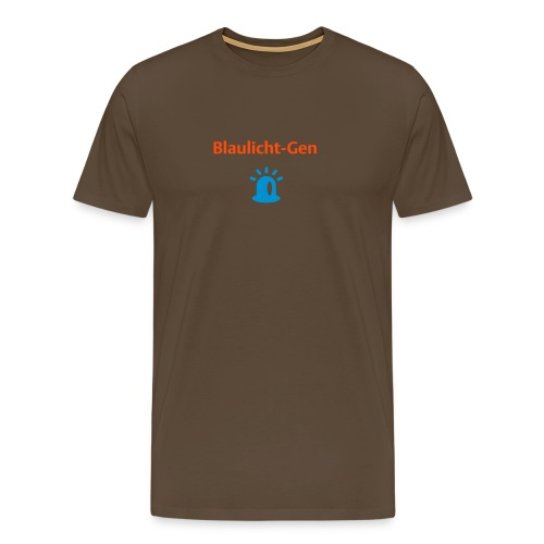 Blaulicht-Gen (Rücken: Logo) - Männer Premium T-Shirt