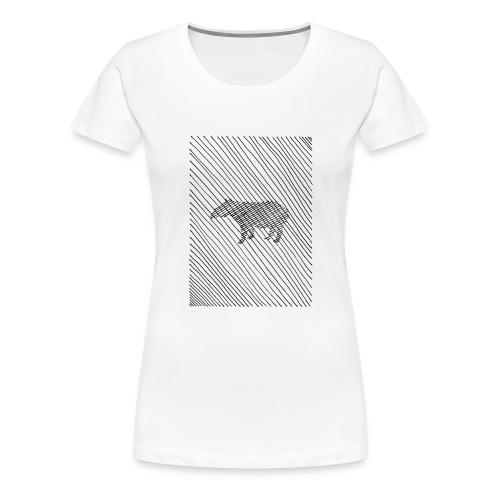 pencil & eraser - Frauen Premium T-Shirt