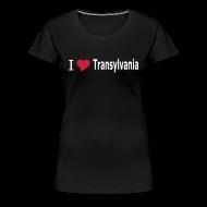 T-Shirts ~ Frauen Premium T-Shirt ~ I love Transylvania - Siebenbürgen - Erdely - Ardeal -Transilvania - Romania - Rumänien - Dracula
