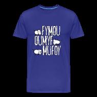 T-Shirts ~ Männer Premium T-Shirt ~ Drei Freunde Fymou, Oumyf und Mufoy