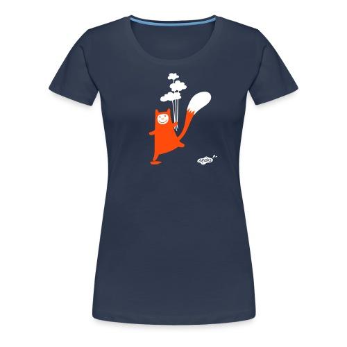 Katzling Kuno mit Wolken-Ballons - Frauen Premium T-Shirt